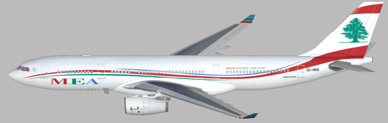 MEA - Middle East Airlines (OD-MEB) (Page 1) — Liveries